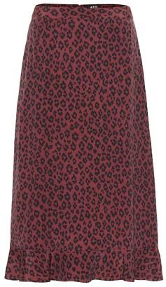 A.P.C. Leopard-print midi skirt