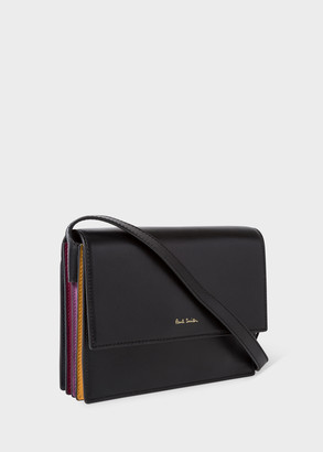 Paul Smith Womens Black Concertina Leather Box Cross-Body Bag