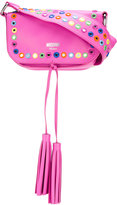 Moschino mirror embellished cross-body bag - women - Calf Leather - One Size