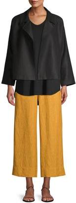 Eileen Fisher Wide-Leg Linen Pants