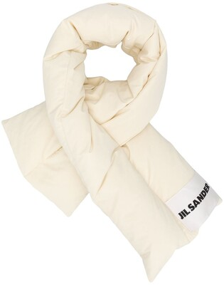 Jil Sander Padded Logo Patch Scarf