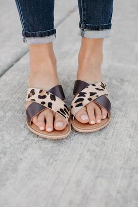 Pebble Leopard & Solid Slides