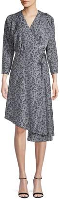Joie Acantha Leopard-Print Wrap Dress