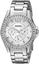 Fossil Women's ES3202 Riley -Tone Stainless Steel Watch with Stainless Steel Bracelet