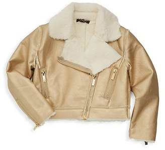 Imoga Little Girl's Girl's Esmae Faux-Fur Biker Jacket