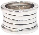Bulgari B-Zero1 18K White Gold Ring Band Size 3.75
