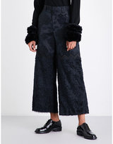 Noir Kei Ninomiya Wide-leg floral-jacquard trousers
