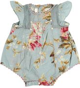 Flower Printed Cotton Muslin Bodysuit