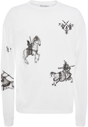 J.W.Anderson Camelot print long-sleeve T-shirt