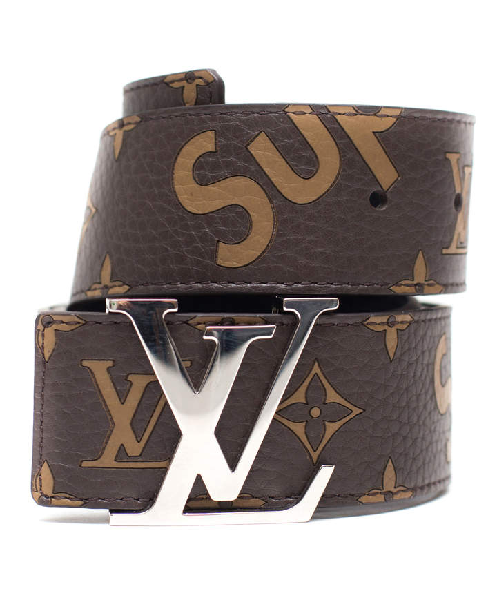 8426c207d3a x Supreme Initiales Belt 40 MM Monogram Brown Silver