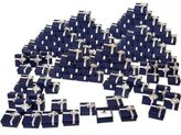 FindingKing 144 Blue Bow Tie Ring Gift Boxes Jewelry Displays