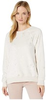 True Grit Dylan By Dylan by Dream Sherpa Ultra Soft Scattered Stars Sweatshirt (Natural/Gold) Women's Clothing