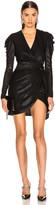 Jonathan Simkhai Lace Knit Wrap Dress in Black | FWRD