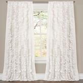 "Lush Decor Belle Curtain Panel - White (84"" x 54"")"