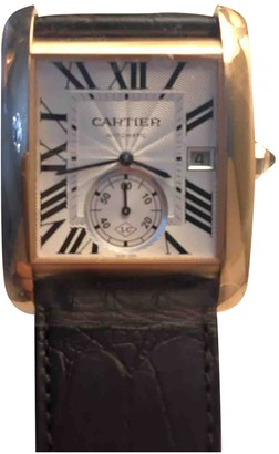 Cartier Tank MC White Pink gold Watches