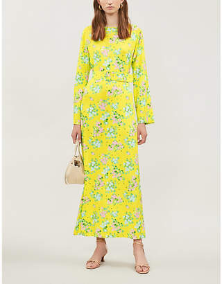 MONICA BERNADETTE floral-print stretch-jersey dress