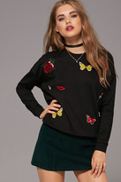 Forever 21 FOREVER 21+ Butterfly Patch Sweatshirt