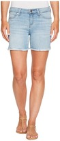 Liverpool Vickie Shorts Frayed in Vintage Super Comfort Stretch Denim in Mandalay Light Women's Shorts