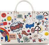 Anya Hindmarch Ebury Sticker-Print Leather Tote Bag