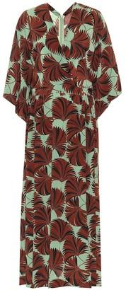 Dries Van Noten Printed silk midi dress