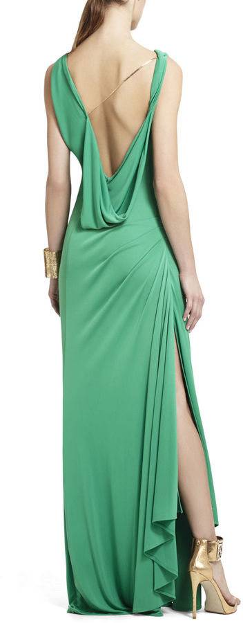 BCBGMAXAZRIA Fran Asymmetrical Draped Dress