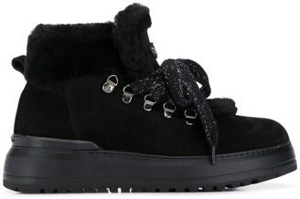 Baldinini Platform Lace-Up Boots