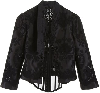 Dolce & Gabbana Lace Detail Cropped Jacket