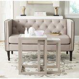 Safavieh Egan White/ Grey Lacquer Stacking Table