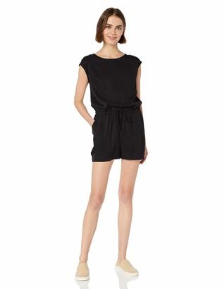 Daily Ritual Amazon Brand Women's Tencel Short-Sleeve Romper