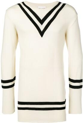 Comme Des Garçons Pre Owned Stripes Detailing Jumper