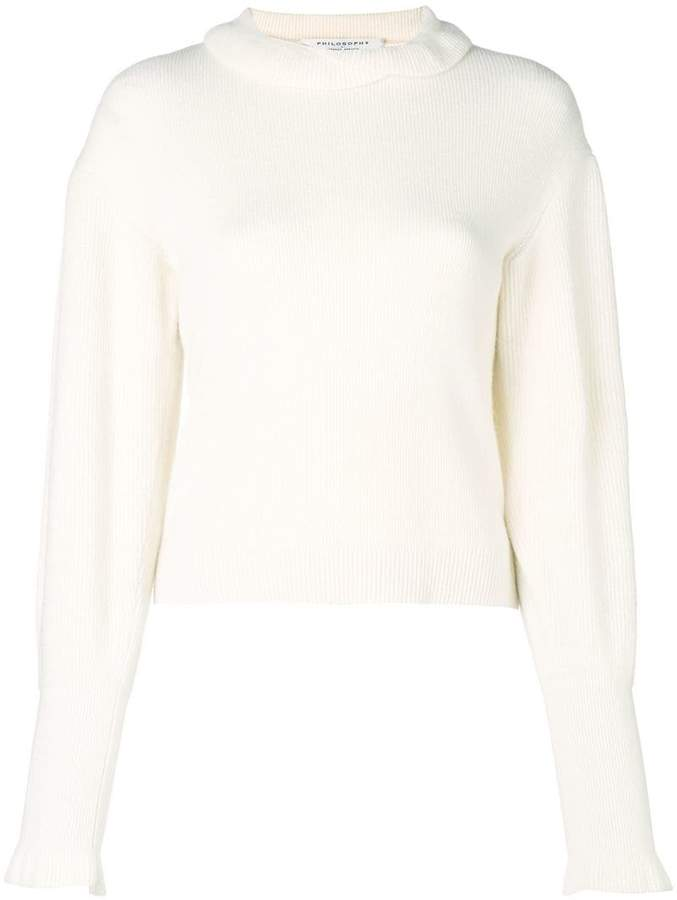 Philosophy di Lorenzo Serafini fold collar sweater