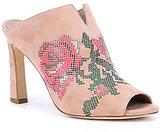 Donald J Pliner Elora Floral Rose Peep Toe Mules