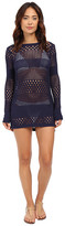 Tommy Bahama Beach Sweater Open Weave Variegated Sweater w/ Side Zipper Cover-Up