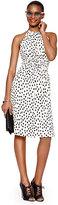 Kate Spade Leopard dot tie back dress