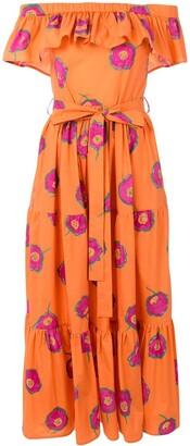 La DoubleJ Off-Shoulder Print Dress
