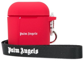Palm Angels logo-print AirPods case