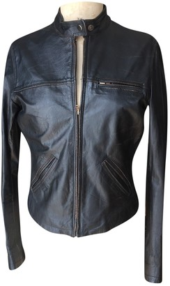 Public School Black Leather Leather jackets