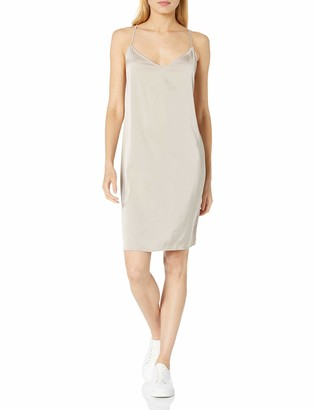 The Drop Women's Darcy Loose Tie-Back Silky Stretch Mini Slip Dress
