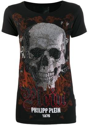 Philipp Plein skull print logo T-shirt