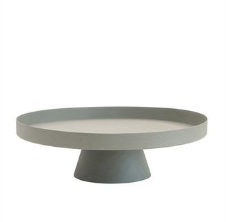 Bloomingville Round Metal Tray With Pedestal