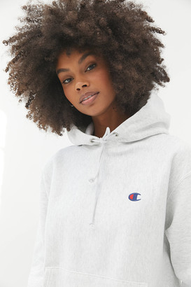 Champion Classic Logo Patch Hoodie Sweatshirt
