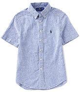 Ralph Lauren Big Boys 8-20 Striped Short-Sleeve Linen-Blend Shirt