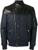 Diesel zip up biker jackets - men - Calf Leather/Polyamide/Viscose - 48