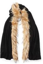 Ralph Lauren Faux Fur–Trim Scarf