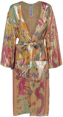 Etro Abstract Printed Belted Kimono Coat