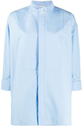 Marni Wing Collar Buttoned Shirt