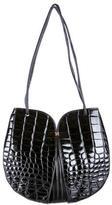 Lancel Vintage Embossed Shoulder Bag