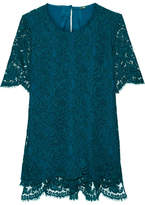 ADAM by Adam Lippes Corded Cotton-blend Lace Top - Petrol