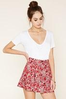 Forever 21 Paisley Print Skater Skirt