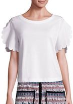 See by Chloe Scalloped Sleeve Tee
